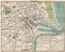 ABERDEEN town/city plan. Scotland. BARTHOLOMEW, 1911 antique map